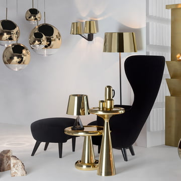 Base Kollektion mit Wingback Chair und Ottoman von Tom Dixon