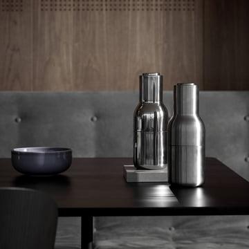 Menu - Bottle Salz- und Pfeffermühle Edelstahl