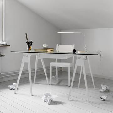 Arco Schreibtisch in Weiß