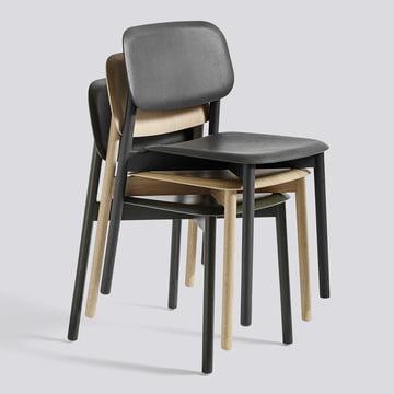 Der Hay - Soft Edge Stuhl in Eiche matt lackiert und schwarz gebeizt
