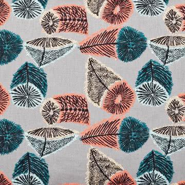 Der Stoff Hana No Mi grau / blau / orange von Kvadrat