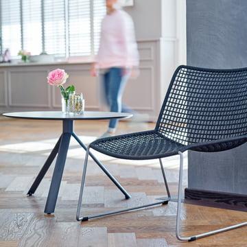 Beistelltisch und Sessel von Weishäupl