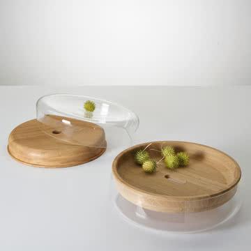 Die Double Bowl in Eiche geölt / Glas klar von Peruse