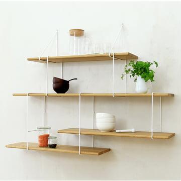 Link Regalsystem von Studio Hausen in Eiche natur / Weiß