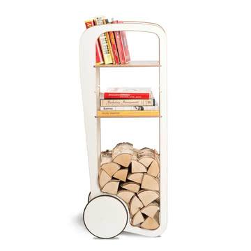 Ablage für Holz und Bücher