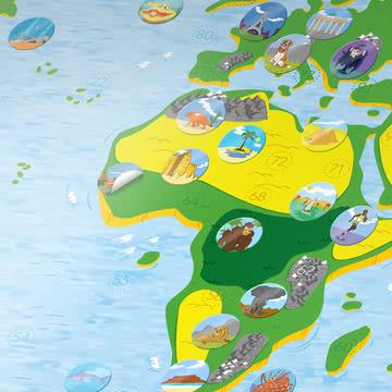 Kids Map von Awesome Maps mit Stickern