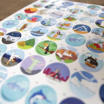 Sticker mit Erklärkarte