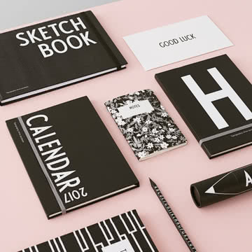 Kalender 2017 / Sketchbook / Notizbücher von Design Letters