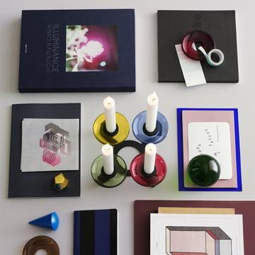 Lumi Kerzenständer mit Glasmanschetten