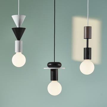 Die Schneid - Junit Lamp Pendelleuchte in schwarz / weiß