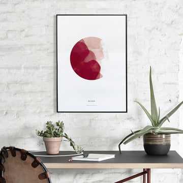 Red Moon Poster von Paper Collective