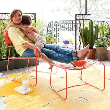 Surprising Lounger Sessel + Fußablage von Fermob