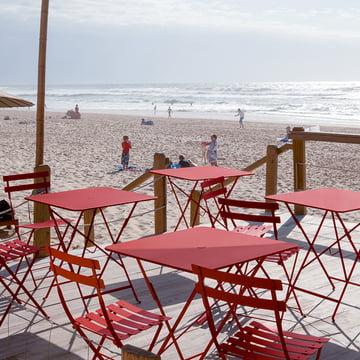 Bistro Klapptische und -stühle in Rot