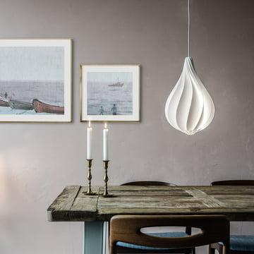 Der weiße Lampenschirm für Ihren Esstisch