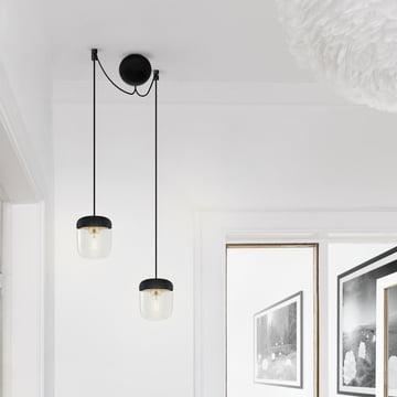 Dezente Aufhängung für Lampen
