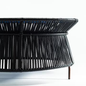 ames - caribe Low Table, schwarz / blau / braun