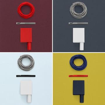 Verschiedene Farbkombinationen des Ready Made Curtain Vorhangs
