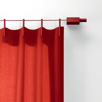 Ready Made Curtain Vorhang und Aufhängevorrichtung in Rot