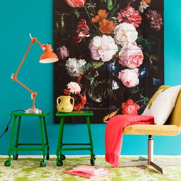 Blumenstillleben in einer Glasvase (De Heem) von IXXI