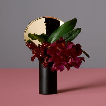 Fondale Vase von Rosenthal in Schwarz matt