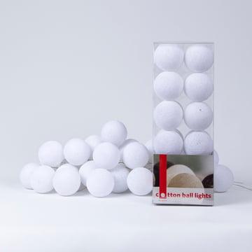 Lichterkette von Cotton Ball Lights in Weiß