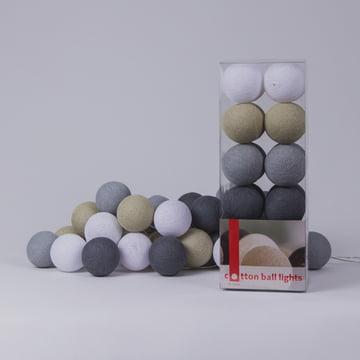Lichterkette Sand-Grey von Cotton Ball Lights