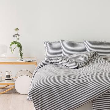 Marimekko - Tasaraita Deckenbezug, grau / weiß