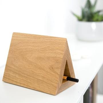 Massives Holz-Lesezeichen mit Stiftablage