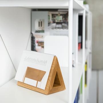Dreieck aus Eichenholz für Bücher