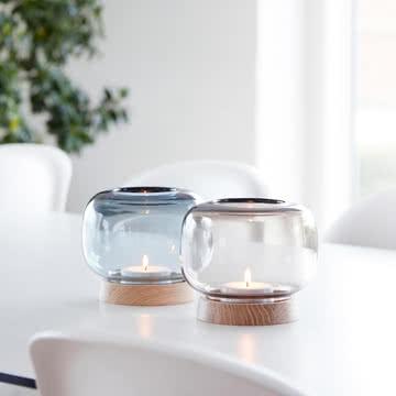 applicata - Hurricane Teelichthalter Blau und Smoke