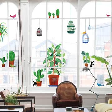 Lekkerplèkkuh Fensterdekoration Flora & Fauna von Fatboy