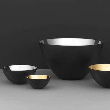 Krenit Schalen von Normann Copenhagen in Gold und Silber