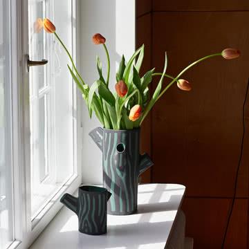 Die Hay - Tree Trunk Vase in S und M, grün