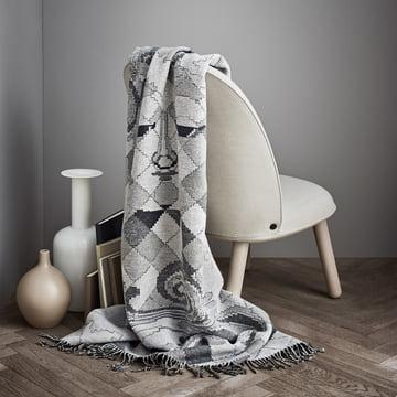 Die Juna - Bjørn Wiinblad Gobelin Decke, grau als Überwurf