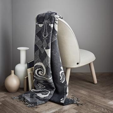 Die Juna - Bjørn Wiinblad Gobelin Decke 130 x 195 cm in grau als Überwurf