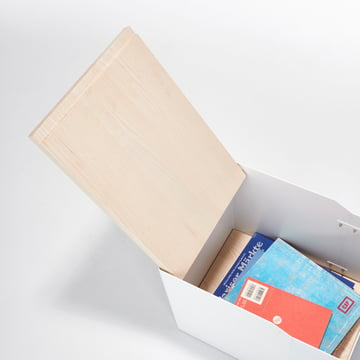 Stadtnomaden - Sammler Aufbewahrungscontainer S in Esche mit Zeitschriften