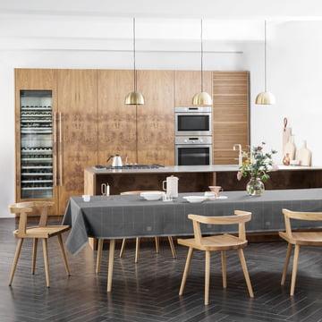 Engesvik Tischdecke von Georg Jensen Damask auf dem Esstisch in der Küche