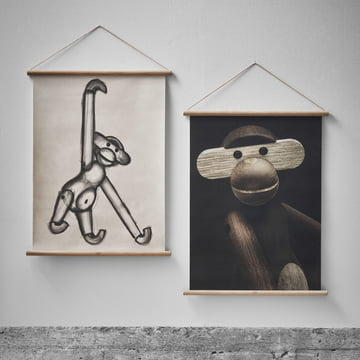 Affe Porträit und Zeichnung von Kay Bojesen