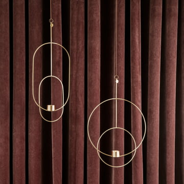 Ovaler und runder Teelichthalter zum Aufhängen von ferm Living