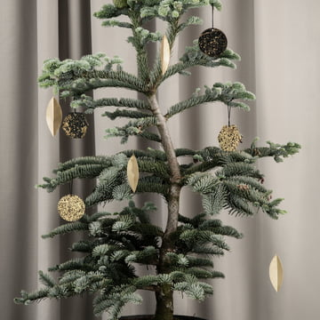 Messing-Ornament Blatt (4er-Set) von ferm Living