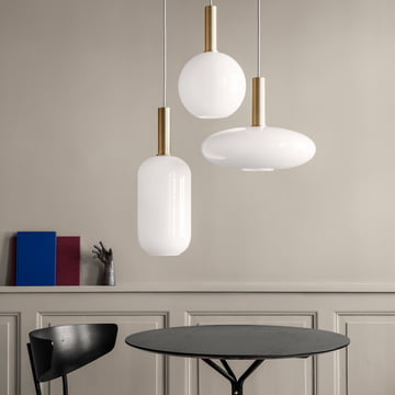 Der ferm Living - Opal Shade Lampenschirm, Sphere, Ellipse und Tall in Kombination