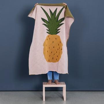 Fruiticana Kinderdecke 80 x 100 cm von ferm Living in Ananas