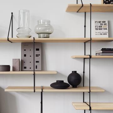 Link Regalsystem von Studio Hausen in Esche natur / Schwarz