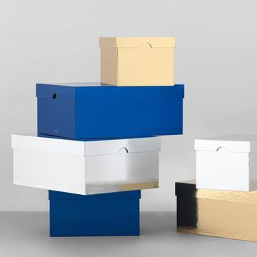 Die Normann Copenhagen - Metallic Boxes in gold / silber / blau