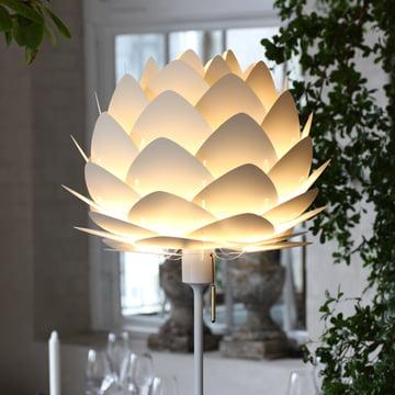 Das Vita - Champagne Gestell für Standleuchten mit Leuchtenschirm Silvia