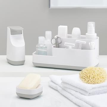 Slim Seifenspender, Slim Seifenschale und Easy Store Badezimmer Caddy von Joseph Joseph