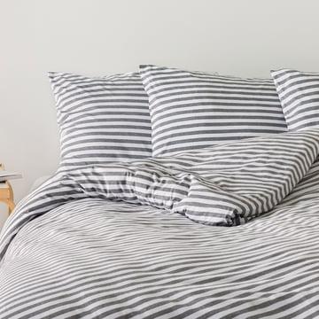 Tasaraita Kopfkissenbezug 80 x 80 cm von Marimekko in Grau / Weiß