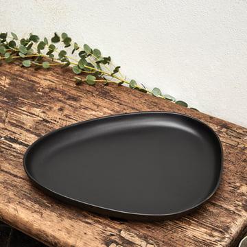 Curve Stoneware Teller von LindDNA