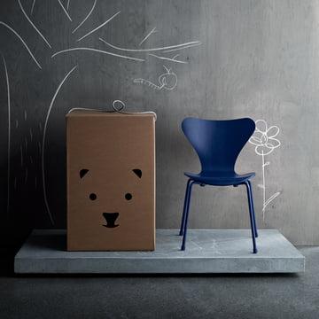 Der Fritz Hansen - Serie 7 Kinderstuhl, monocrom blau