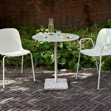 Hay - Terrazzo Tisch rund Ø 70 cm, grau / hellgrau
